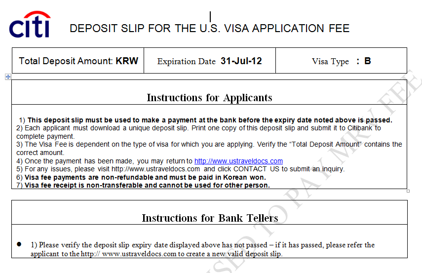 Ly For A U S Visa Bank And Payment Options Pay My Fee South Korea English